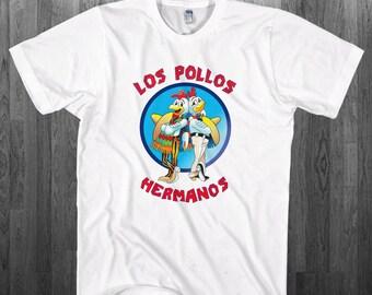Los Pollos Hermanos T-shirt Breaking Bad Heisenberg Pinkman fan Youth Adult toddler size Tee Shirts