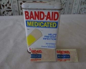 Vintage 1970's Johnson & Johnson Collectible Medicated Band-Aid tin RARE