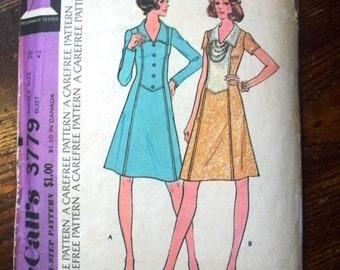 Vintage McCalls Printed Sewing Pattern ~ McCalls 3779 ~ Size 20 Bust 42 ~ 1973 Misses Dress