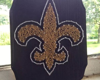 New Orleans Saints String Art on Wood