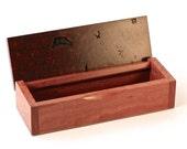 Wooden Watch / Pen / Jewellery Box - Australian Rare Jarrah Burl - Hand-made Unique Elegant Jewelry Jewellery Storage Display & Organizer A5