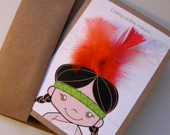 10 Little Indians, Party Invitations - custom