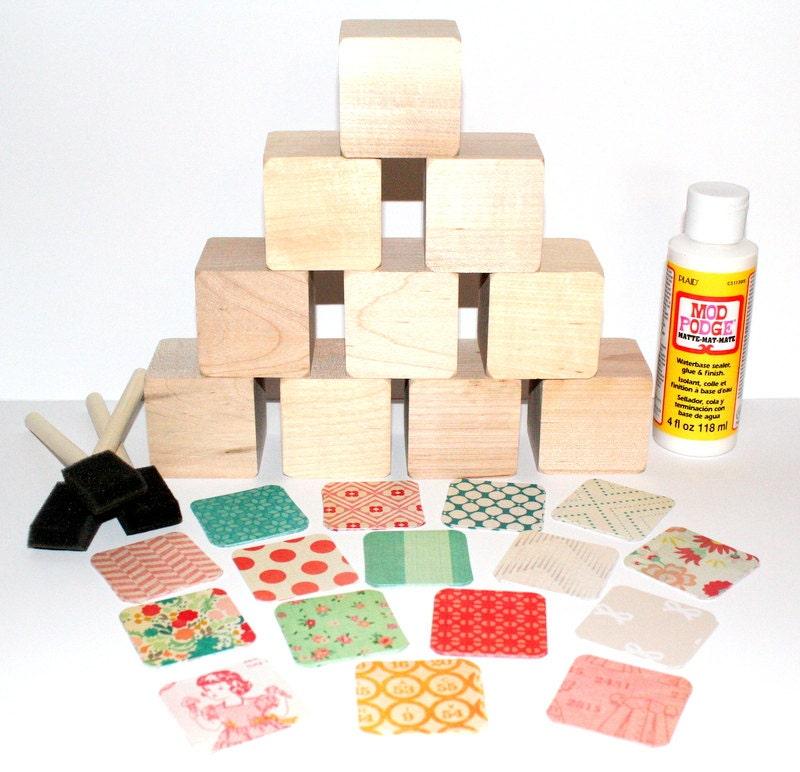 Vintage wooden baby blocks diy baby shower craft baby girl for Child craft wooden blocks