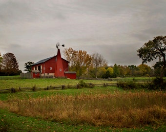 Carriage Hill Red Barn Photograph