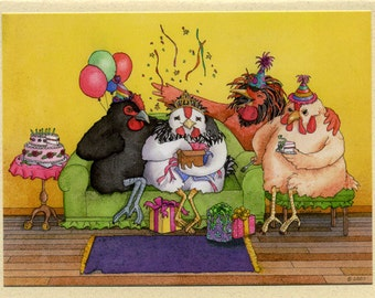 Hen Party Birthday Card