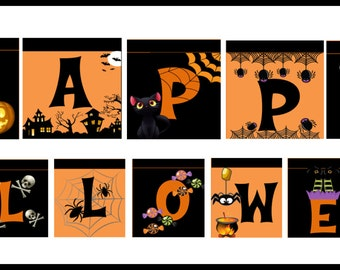 Happy Halloween Banner, Decoración Halloween, Halloween Party!