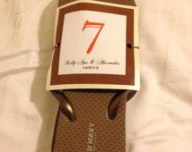 Custom Wedding Reception Flip Flop Size Tags Digital File