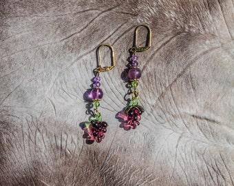 Glass Grape Earrings