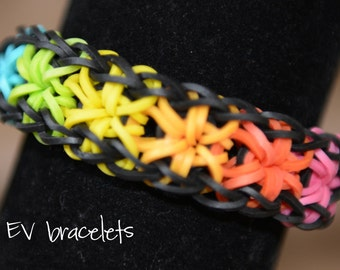 Rainbow Loom Rubberband Rubber Band Starburst Friendship Bracelet