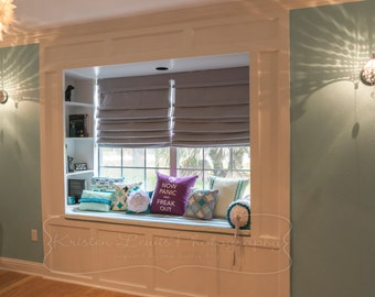 Pleated Roman Shades (Blackout Optional)