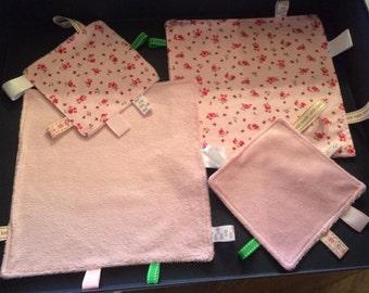 Handmade Cuddle Cloth with taggies medium