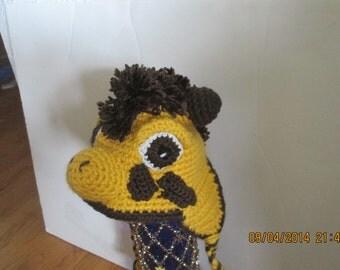 Giraffe hat for a newborn