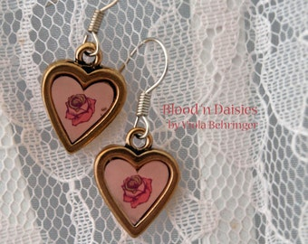 Hearts and Roses Earrings