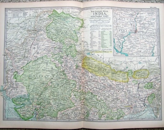 Original 1897 Map of Northern India