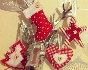 Cute Handmade, Vintage Christmas decorations. Made to order!