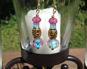 Blue and Pink with Gold