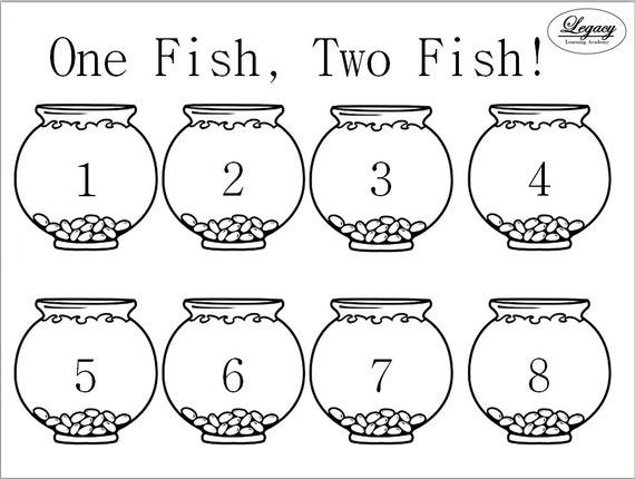 One fish two fish activty mat printable by legacylearning for One fish two fish printable