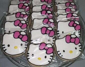 Hello Kitty Sugar Cookies- 12 count- Hello Kitty Cookies
