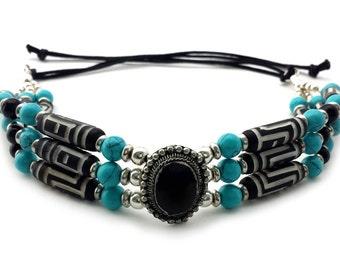 Traditional Handmade Buffalo Bone Hairpipe Beads Tribal Choker Necklace