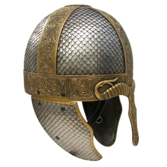 Larp Armour Wyrmwick Celtic Scaled helmet, saxon, viking, norman, SCA, LRP, Theatrical