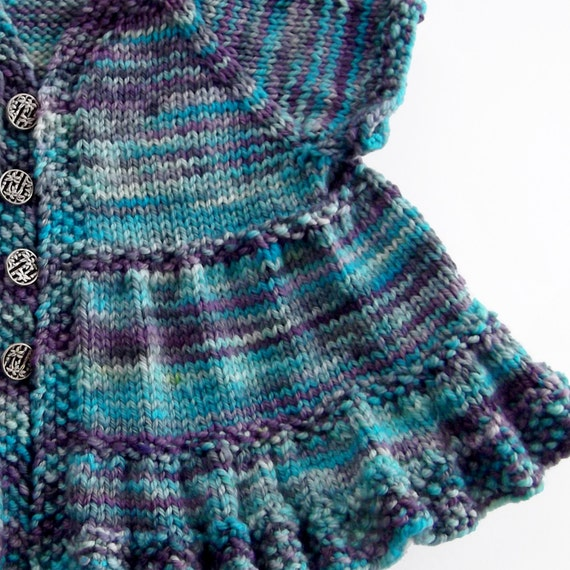 Knitting Pattern For Ruffle Baby Vest : Baby Ruffle Dress Knitting Pattern PDF