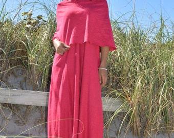 The Super Cowl sleeveless maxi Dress. Organic hemp jersey. Made to order.