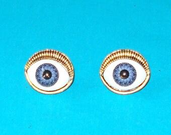 LAST ONE! Evil Eye Post Earrings - Blue