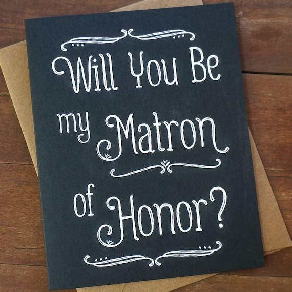 Matron Of Honor Card Ask Matron Of Honor Gift Matron Honor