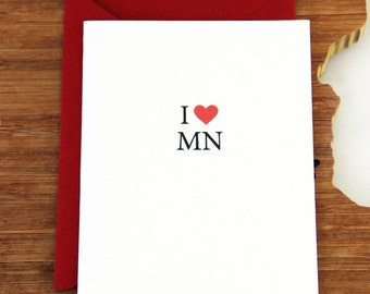 I Love Minnesota Notecard