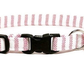 Cat Collar - Soft Candy Stripes - Breakaway Safety Cute Fancy Cat Kitten Collar
