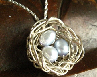 Bird Nest Pendant Tutorial / Instructions