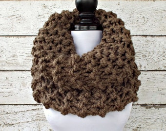 Instant Download Knitting Pattern Knit Cowl Chunky Scarf Pattern - Highlands Oversized Thick Cowl Scarf Knitting Pattern Womens Accessories