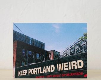 Keep Portland Weird Postcard