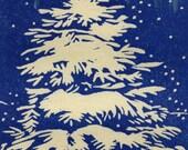 Aurora Borealis Hand-lifted woodblock print