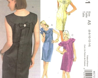 McCall's 5751 LAURA ASHLEY Straight Pullover Dresses