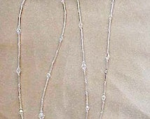 Sassy Silver Crystal AB Reading Glasses and Matching Chain. Readers