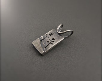 Enchanted Forest Sterling Silver Pendant