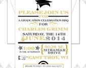 Custom Order of 7 Modern Graduation Announcement Invitations