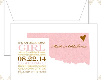 State Baby Shower Invite (available in all states)