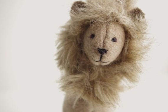 Small Lion, soft wool nursery friend