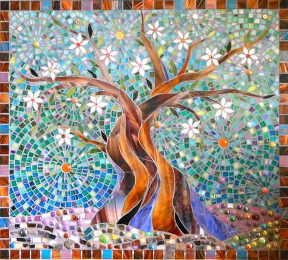 Carr 233 bleu arbre de vie carte art mosa 239 que mosaic arbre de vie