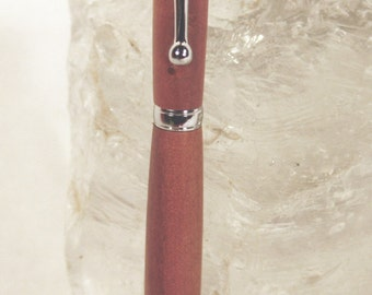 Handmade Pink Ivory Wood Slimline Style Pen