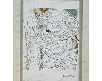 Koala Papercutting- Handcut Original