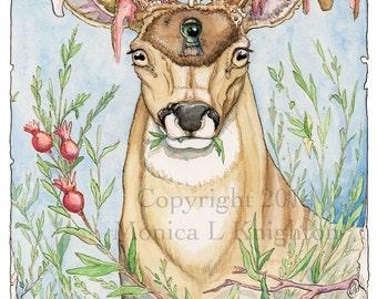 Going Stag series, set of 3 deer prints