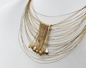 Rich Gold Necklace, Chunky Gold Necklace, Made to order, Statement Necklace, Strand Gold Necklace