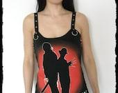 Freddy vs Jason shirt tank top Horror movie gothic clothing alternative apparel dark style nightmare elm street altered tee t-shirt