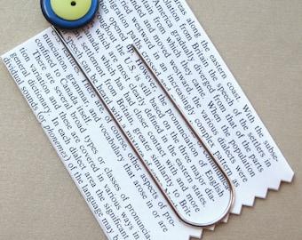 Unique Vintage Button Bookmark PSS 1743