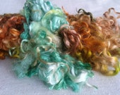 Suri, Kid Mohair,  and BL Fleece n' Lock Mix kettle dyed wool locks for spinning, felting, carding