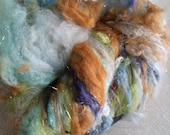 Fiber Wool Art Batt Lockalicious Betty Batt nO 56 for spinning, felting