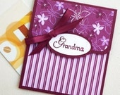 Grandmother Gift Card Holder - Grandma Gift Card Holder, Purple Money Card for Grandma, Mothers Day Gift Card Holder, Grandparent Gift
